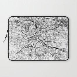 Krakow White Map Laptop Sleeve