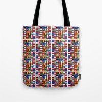 europe Tote Bags featuring Europe/Europa by MehrFarbeimLeben