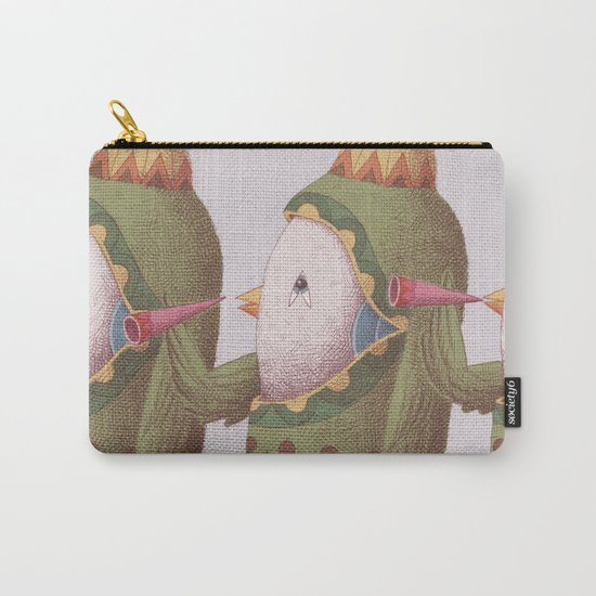 3 Trumpet Birds Carry-All Pouch