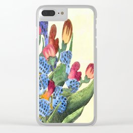 Mrs Dalloway bought the flowers  herself Clear iPhone Case