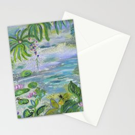 Pond in the Morning Stationery Cards