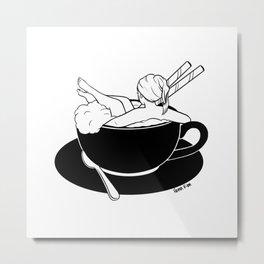 Cappuccino Bath Metal Print