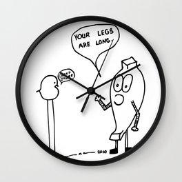 Long Legs Comic Wall Clock