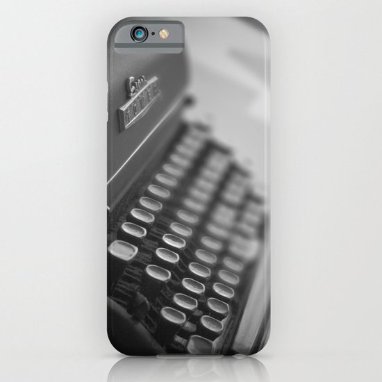 Black and White Typewriter  iPhone & iPod Case