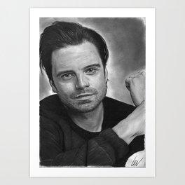 Sebastian Stan Art Print