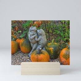 Dancing in the Pumpkin Patch Mini Art Print