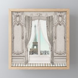 Eiffel Tower room with a view Framed Mini Art Print