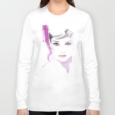 Fashion illustration in watercolors and ink Long Sleeve T-shirt