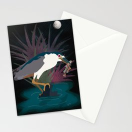 Arcata Marsh Black Crowned Night Heron Stationery Cards