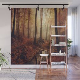 Forest Creek At Sunrise Wall Mural