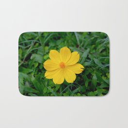 Yellow Flower Bath Mat