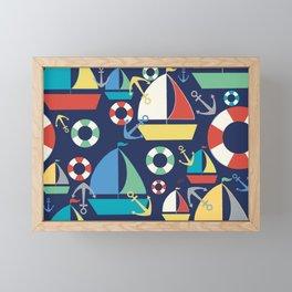 Sailboat Large Framed Mini Art Print