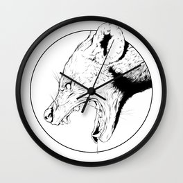 Hyena Wall Clock