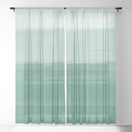 Touching Green Watercolor Abstract #1 #painting #decor #art #society6 Sheer Curtain