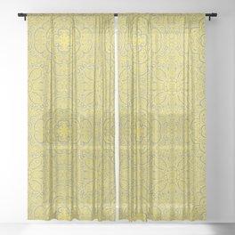 Illuminating Yellow & Ultimate Gray Pattern Sheer Curtain