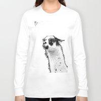 lama Long Sleeve T-shirts featuring Lama by art9