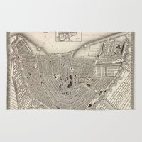 amsterdam Area & Throw Rugs featuring Amsterdam by Le petit Archiviste