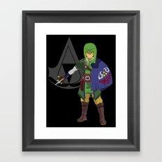 The Legend of Zelda: Hylian Creed Framed Art Print