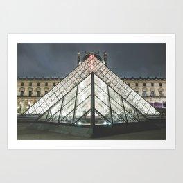 Paris pyramide Louvre 2 Art Print