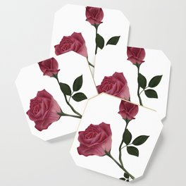 Mystical Maroon Rose Coaster