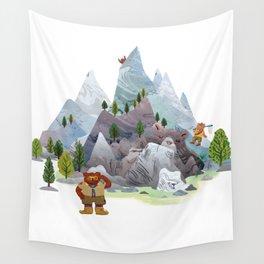 Bear troop Wall Tapestry