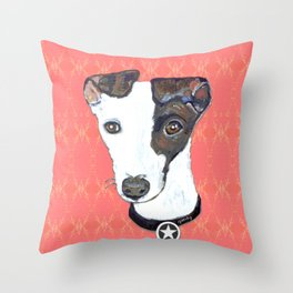 Greyhound Portrait Throw Pillow