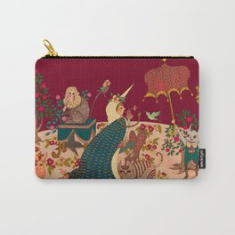 "The Lady is the Unicorn ""Desire""  Carry-All Pouch"