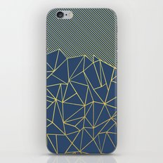 Ab Lines 45 Navy and Gold iPhone & iPod Skin