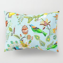 Colourful Birds Chintz Multicolour Pillow Sham