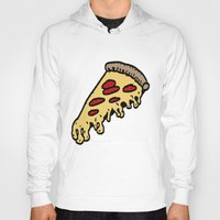 pizza Hoodies featuring pizza by mike boyle