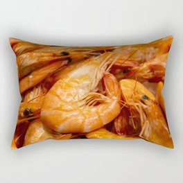Fresh prawns to eat. Rectangular Pillow
