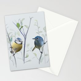 2 birds in tree Stationery Cards