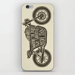 Two wheels move the soul iPhone Skin