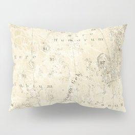 Antique Moon Map Pillow Sham