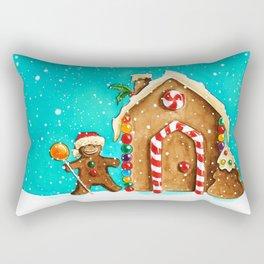 Christmas gingerbread party Rectangular Pillow
