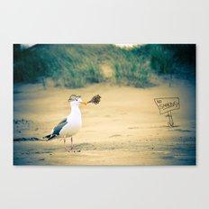 rebel gull. Canvas Print