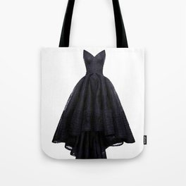 little black dress fashion illustration Tote Bag