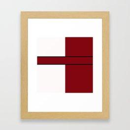 Team Color 6...maroon,white Framed Art Print