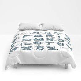 Dracoserific, a font full of Dragons (light) Comforters