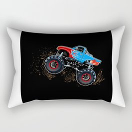 Monster Truck Gift Idea Design Motif Rectangular Pillow