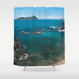 Small bay and islet Shower Curtain