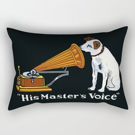 Retro his master's voice, Nipper the Dog Rectangular Pillow
