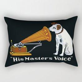 Retro his master's voice, Nipper the Dog Rectangular Pillow