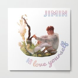 BTS Love Yourself Answer Design - Jimin Metal Print