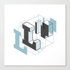 The Exploded Alphabet / L Canvas Print