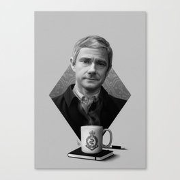 The blogging army doctor Canvas Print