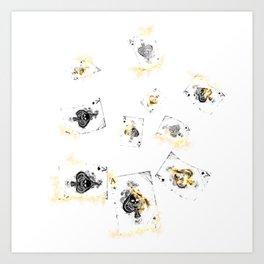 Smoking Aces Art Print