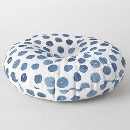 Little blue dots Floor Pillow