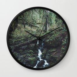 California Redwood Rainforest - Nature Photography Wall Clock