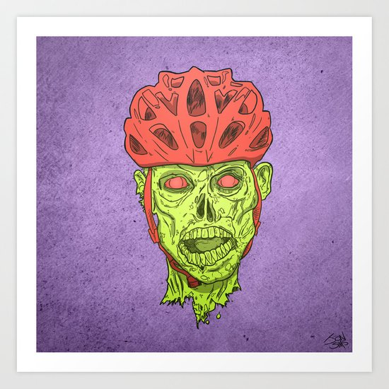 Zombie Spukk! Art Print